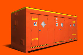 Four hour fire rated flammable chemical storage building rentals by US Hazmat Rentals®