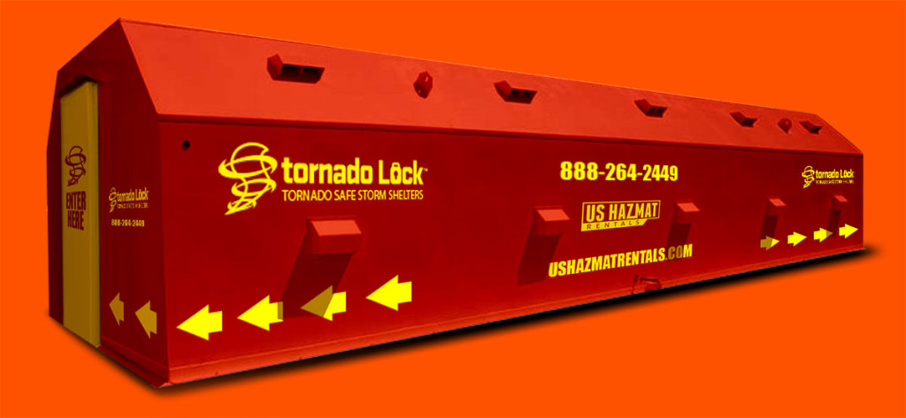 Storm Shelters and Tornado Shelter rentals for job site safety during threat of severe weather.