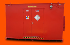 Hazmat Storage Building by US Hazmat Rentals