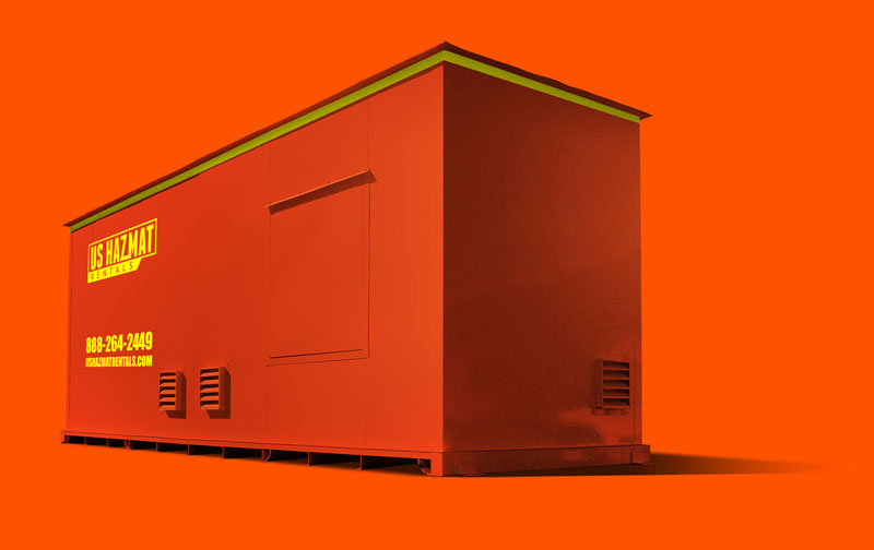 Rent a two hour flammable storage building rated for chemical storage.