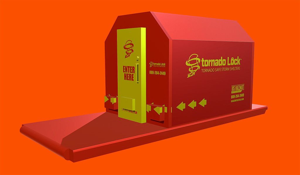 Short and Long Term Tornado Safe Storm Shelter Rentals for job site security, commercial businesses, and community shelter.